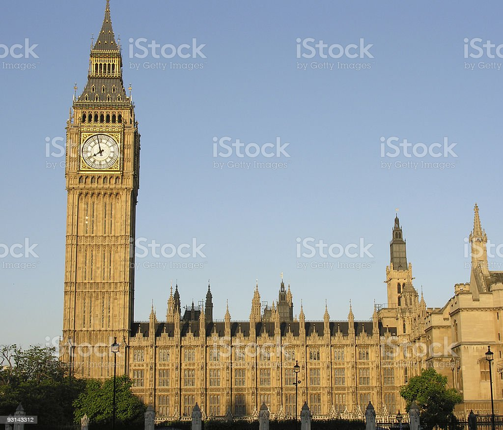 Big Ben and Houses of Parliament, London royalty-free stock photo