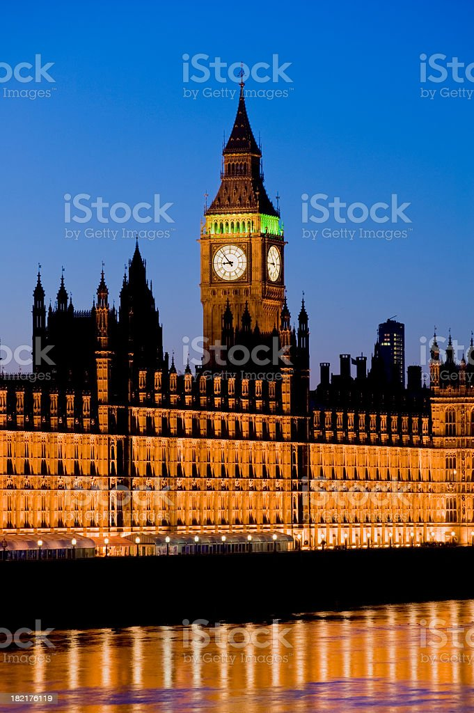 Big Ben and Houses of Parliament London UK royalty-free stock photo