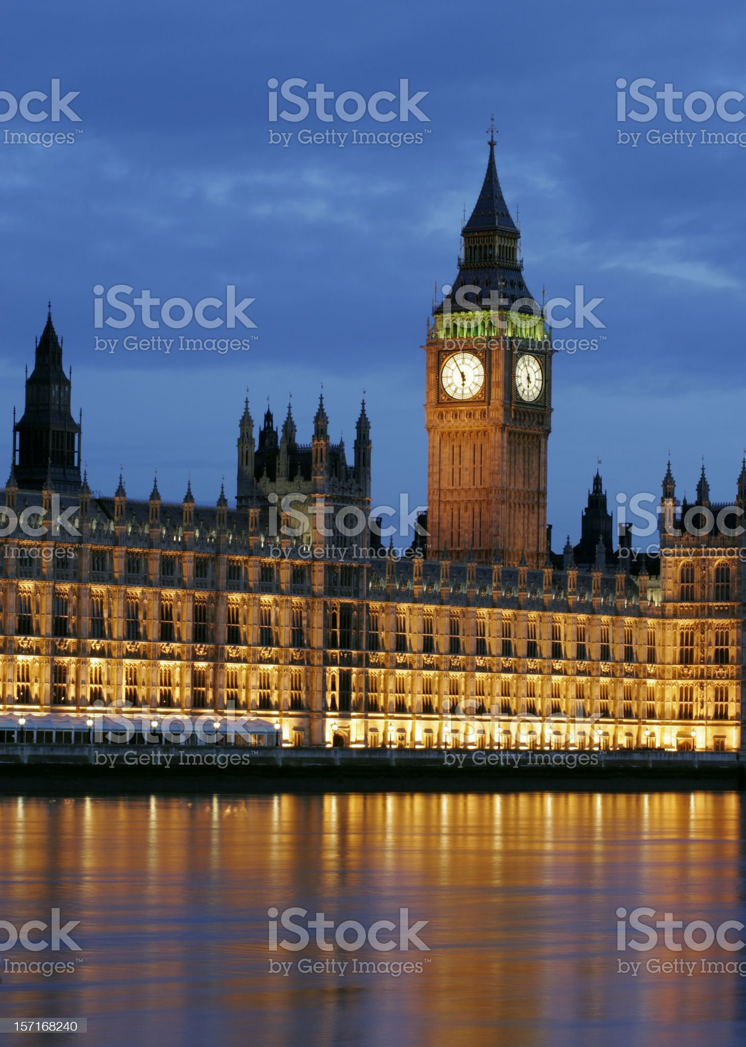 Big Ben and Houses of Parliament royalty-free stock photo