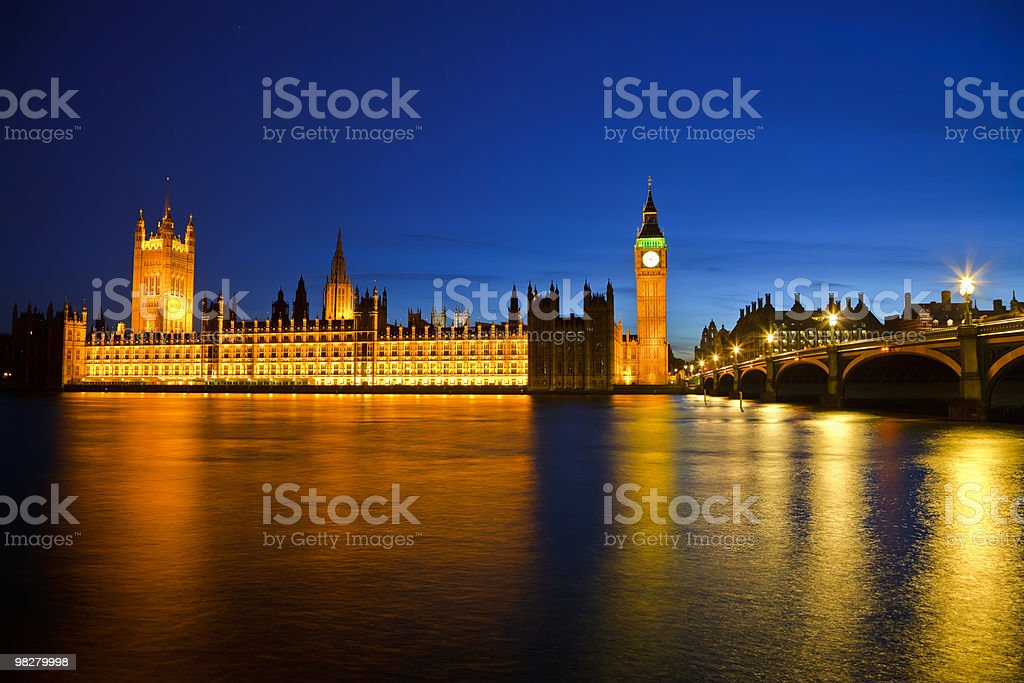 Big Ben and Houses of Parliament stock photo