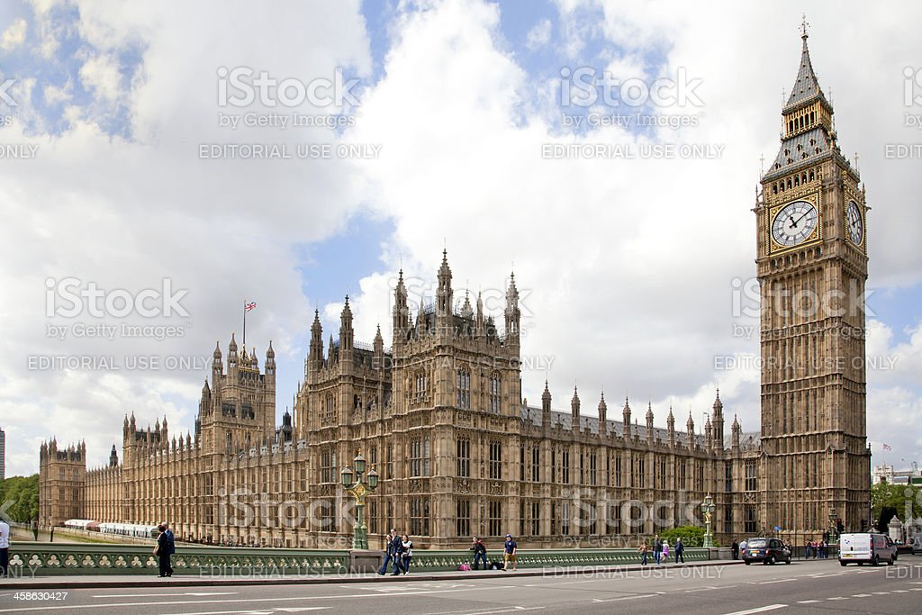 Big Ben and Parlament royalty-free stock photo