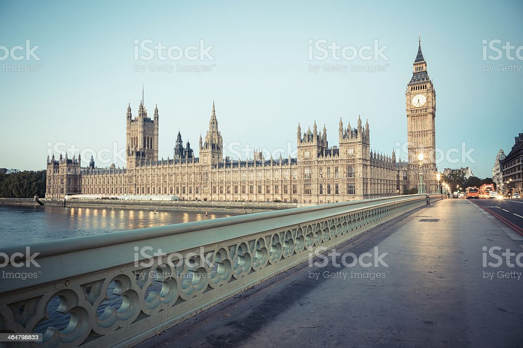 Big Ben and Parliament Building at Dawn stock photo