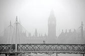 Big Ben and Parliament in the mist
