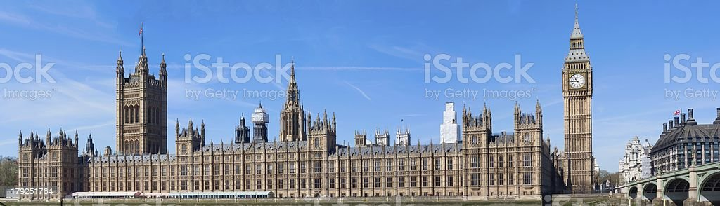 Big ben and parliament, London, panorama royalty-free stock photo