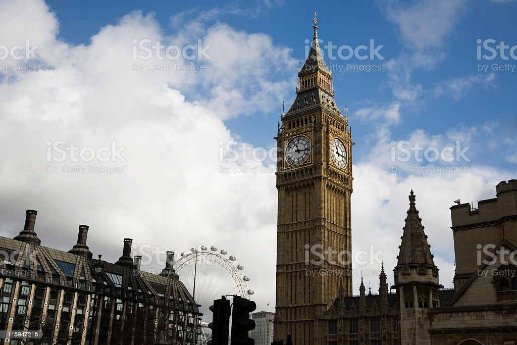 Big Ben and Parliament royalty-free stock photo