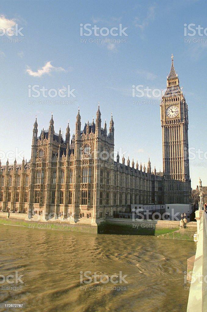 Big Ben And River Thames royalty-free stock photo
