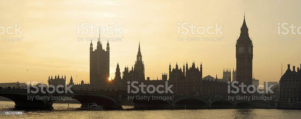 Big Ben and Thames royalty-free stock photo