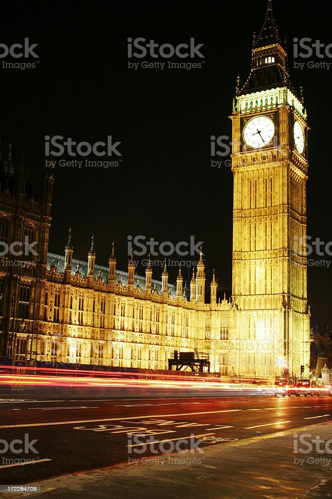 Big Ben and the House of Parliament royalty-free stock photo