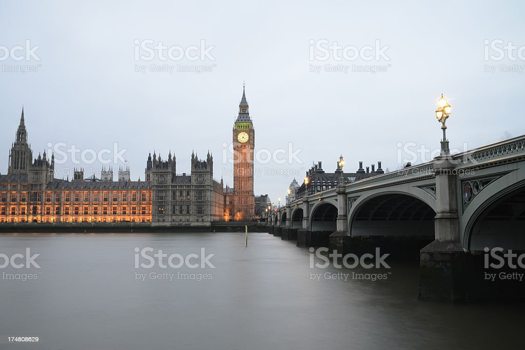 Big Ben and the houses of parliament. London England. royalty-free stock photo