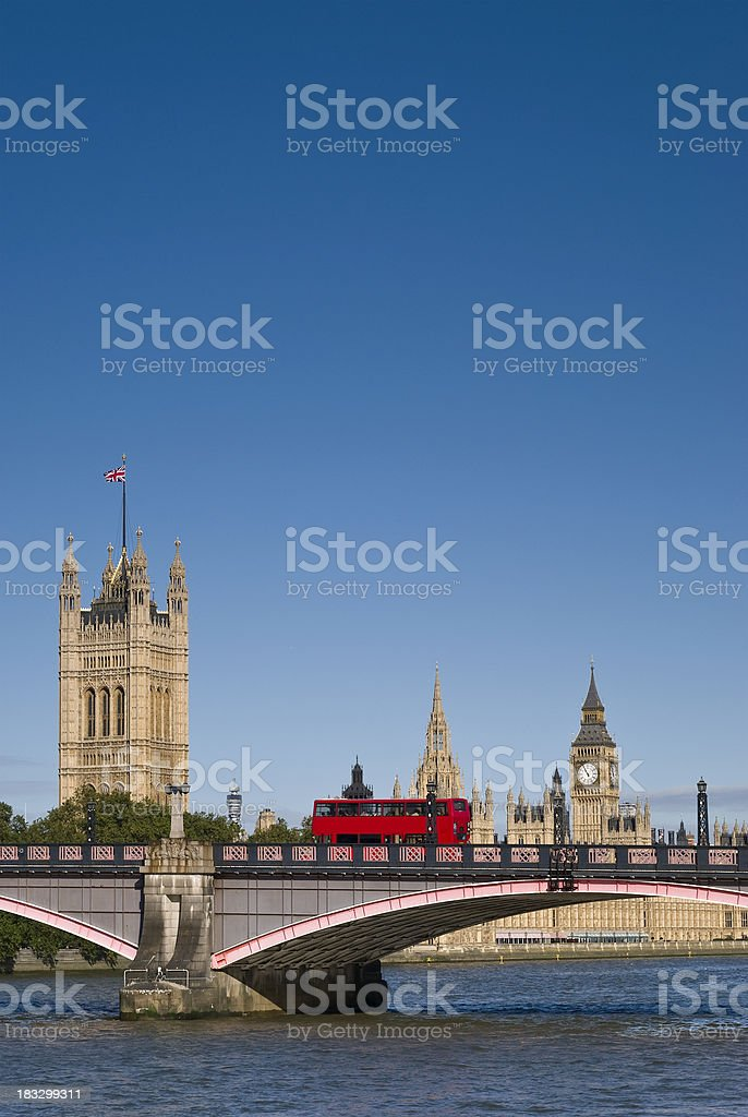 Big Ben and the Houses of Parliament. London, England. stock photo