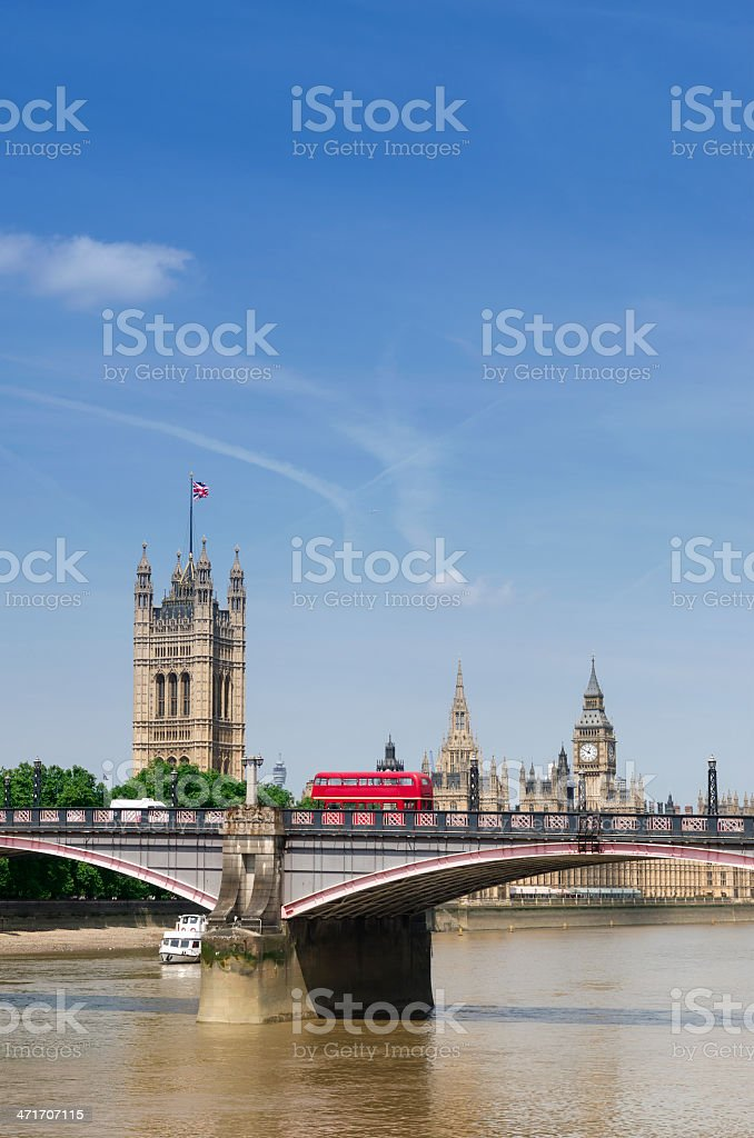 Big Ben and the Houses of Parliament. London, England. royalty-free stock photo