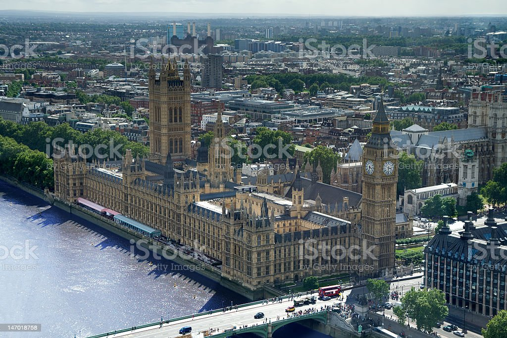 Big Ben and the Houses of Parliament, London royalty-free stock photo