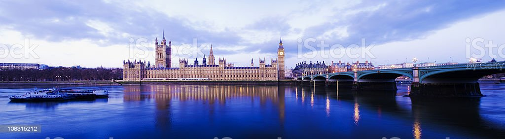 Big Ben and the Palace of Westminster in London UK royalty-free stock photo