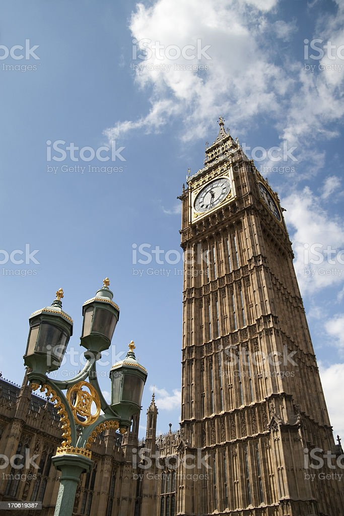 Big Ben And The Palace Of Westminster royalty-free stock photo