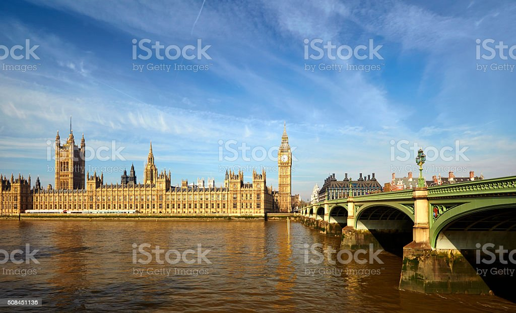 Big Ben And The Palace Of Westminster stock photo