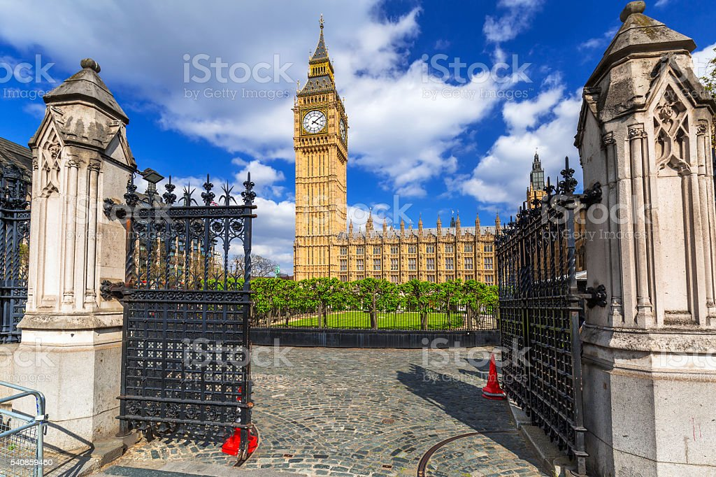 Big Ben and the Palace of Westminster, UK stock photo
