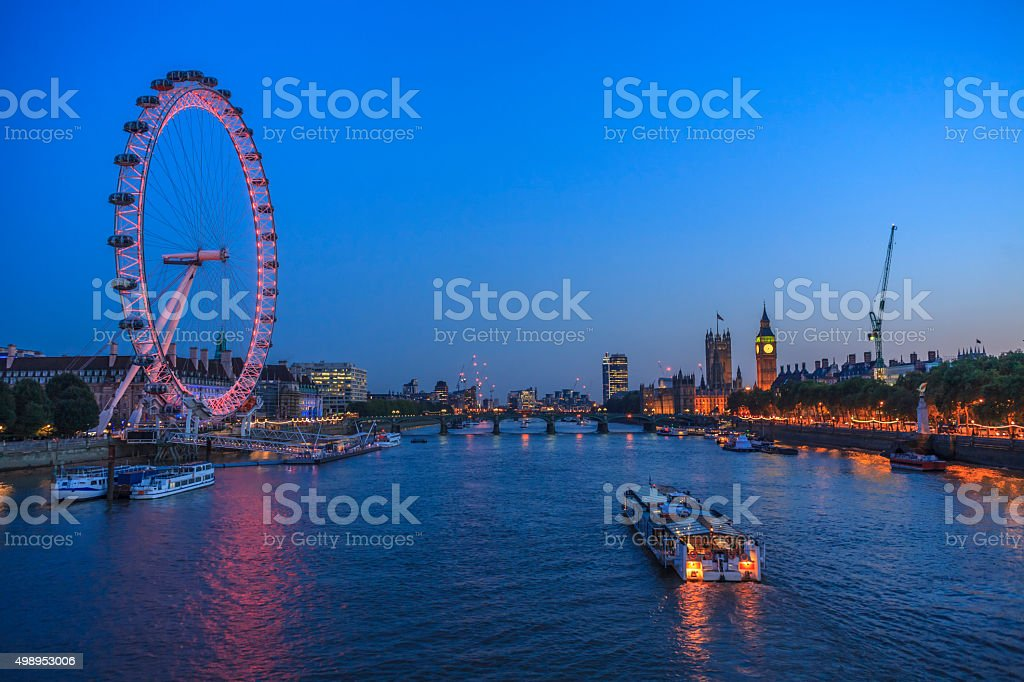 Big Ben and the view of London stock photo