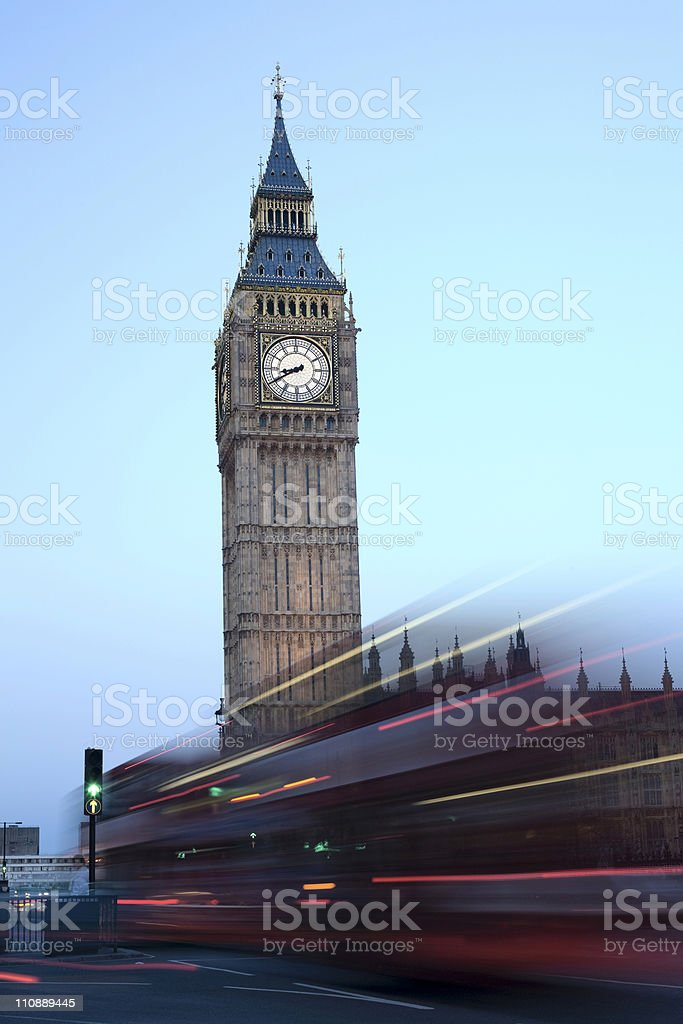 Big Ben and traffic royalty-free stock photo