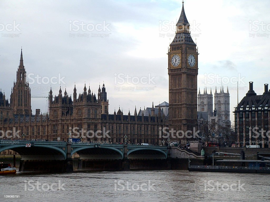 Big Ben and Waterfront royalty-free stock photo
