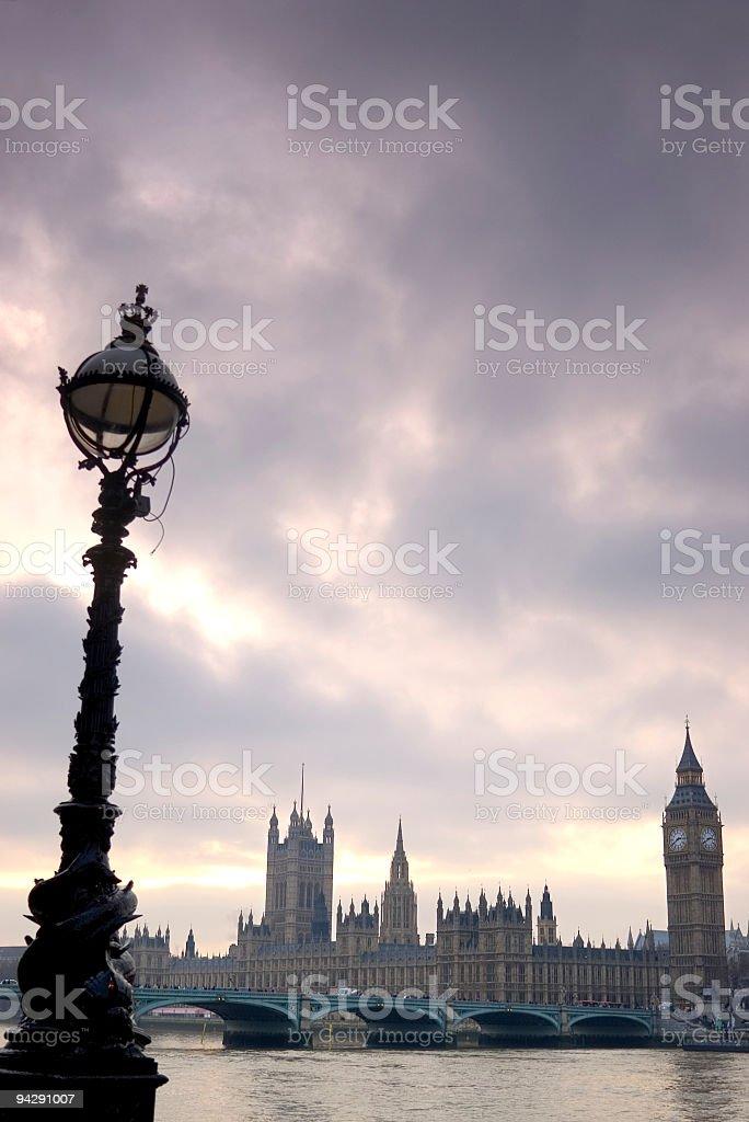 Big Ben and Westminster bridge stock photo
