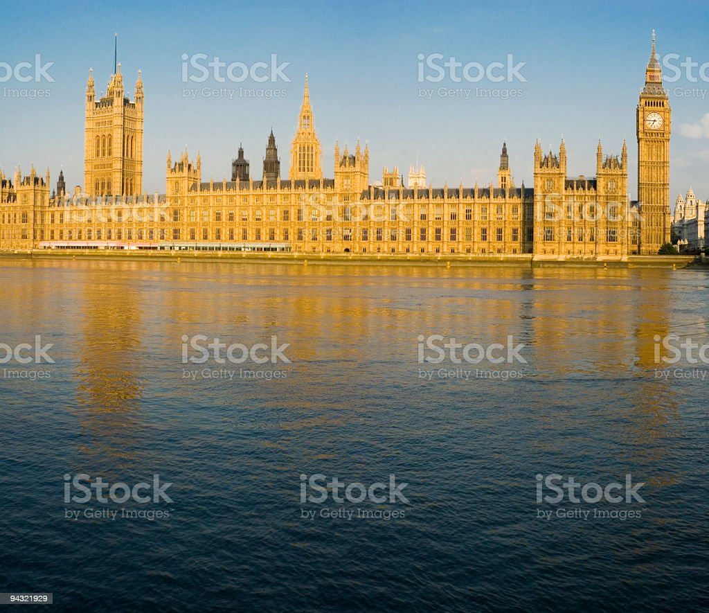 Big Ben and Westminster, London stock photo