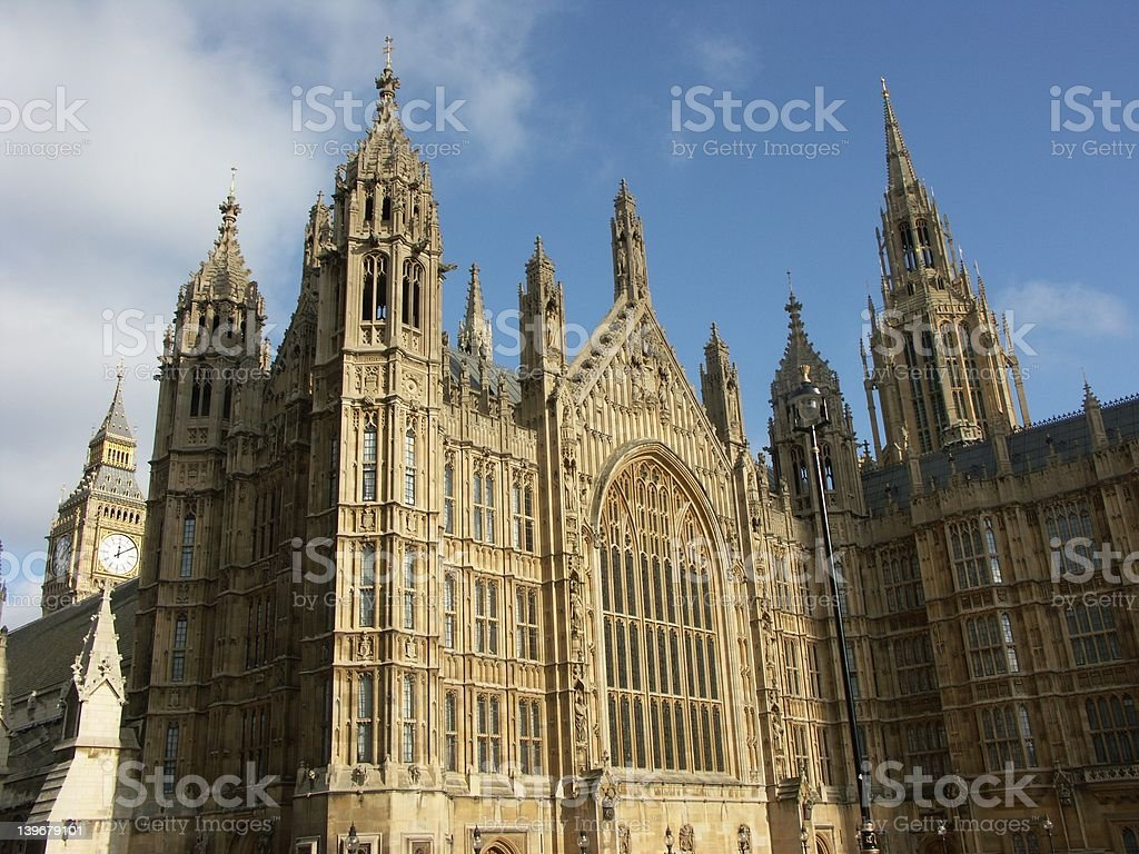 Big Ben and Westminster palace in London royalty-free stock photo