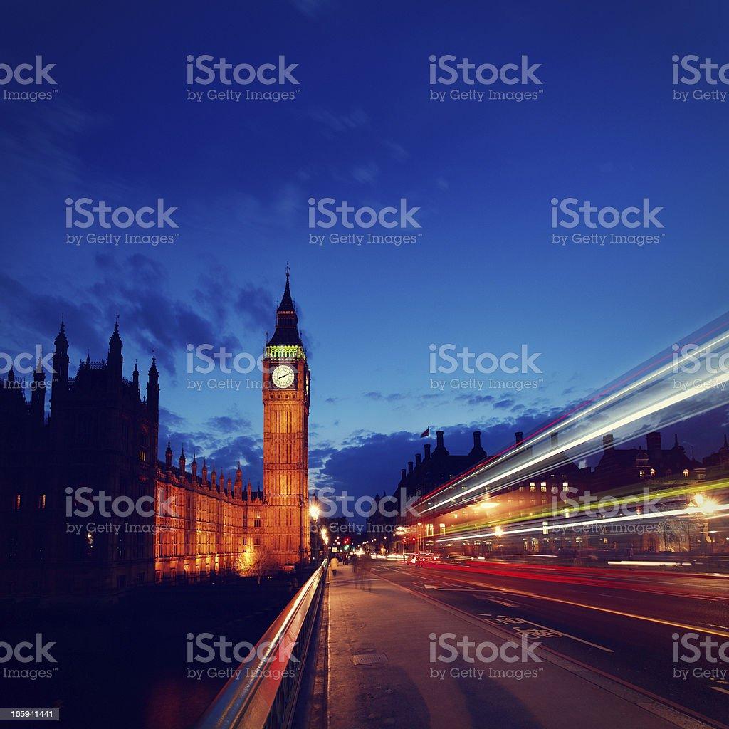 Big Ben at dusk royalty-free stock photo