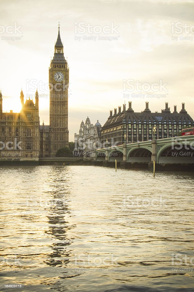 Big Ben at golden hour royalty-free stock photo