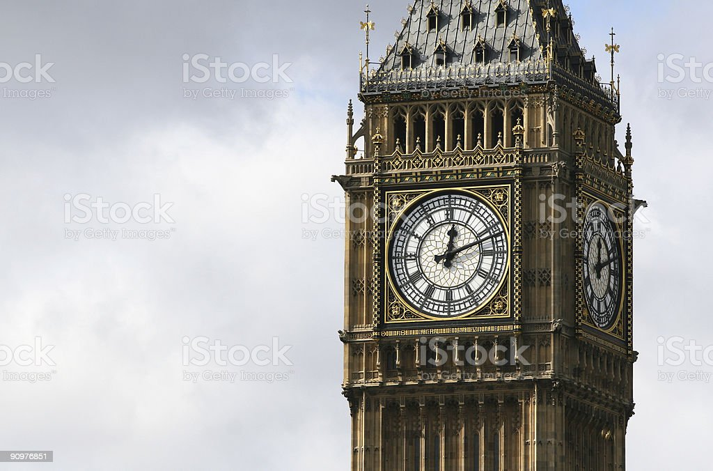 Big Ben at Houses of Parliament, London royalty-free stock photo