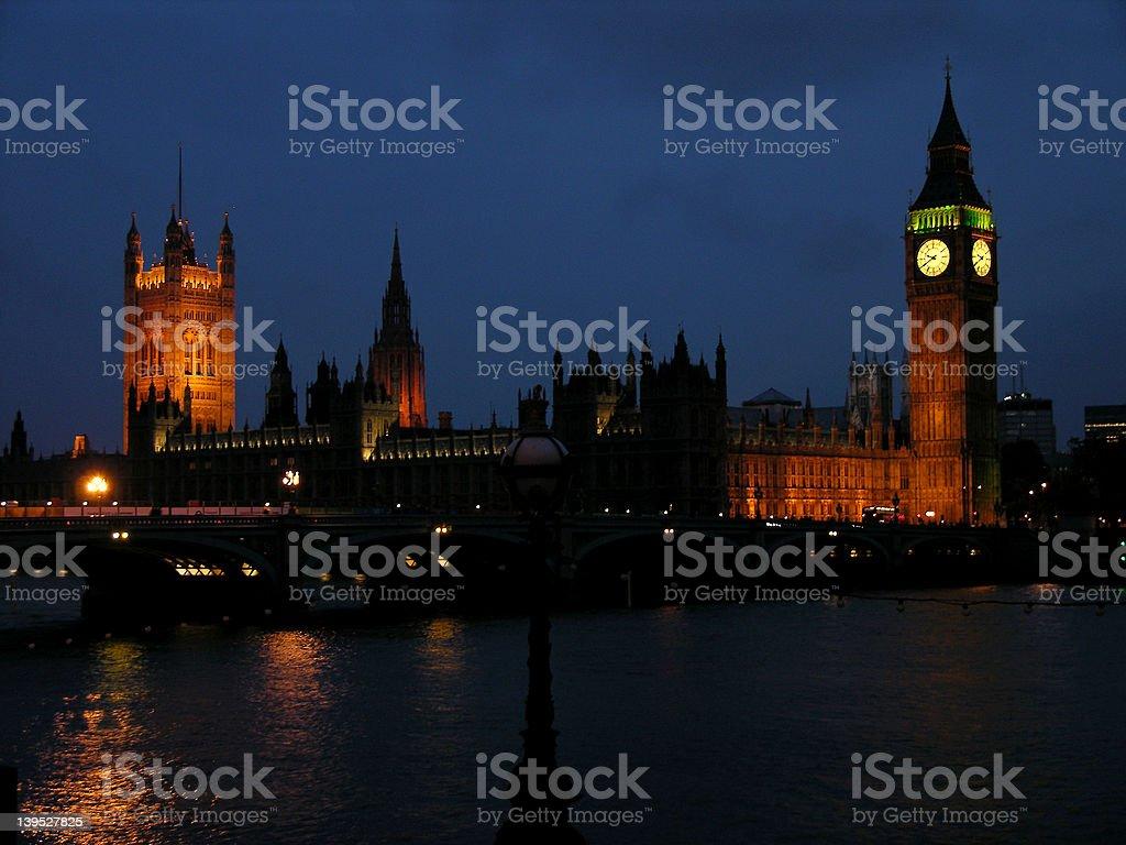 Big Ben at night 1 royalty-free stock photo