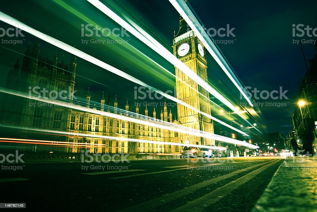 Big ben at night. royalty-free stock photo