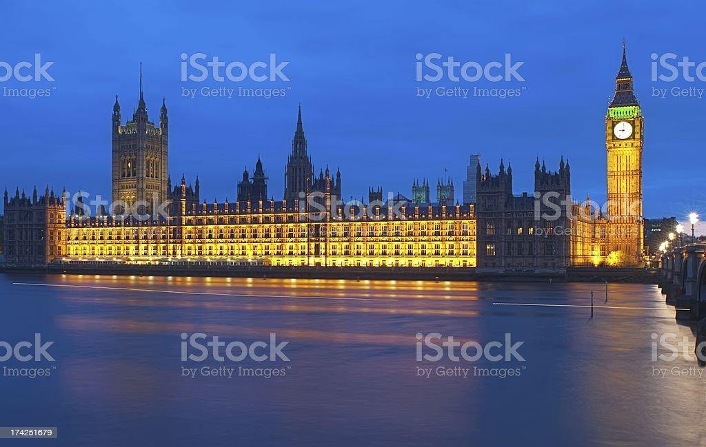 Big Ben at night royalty-free stock photo