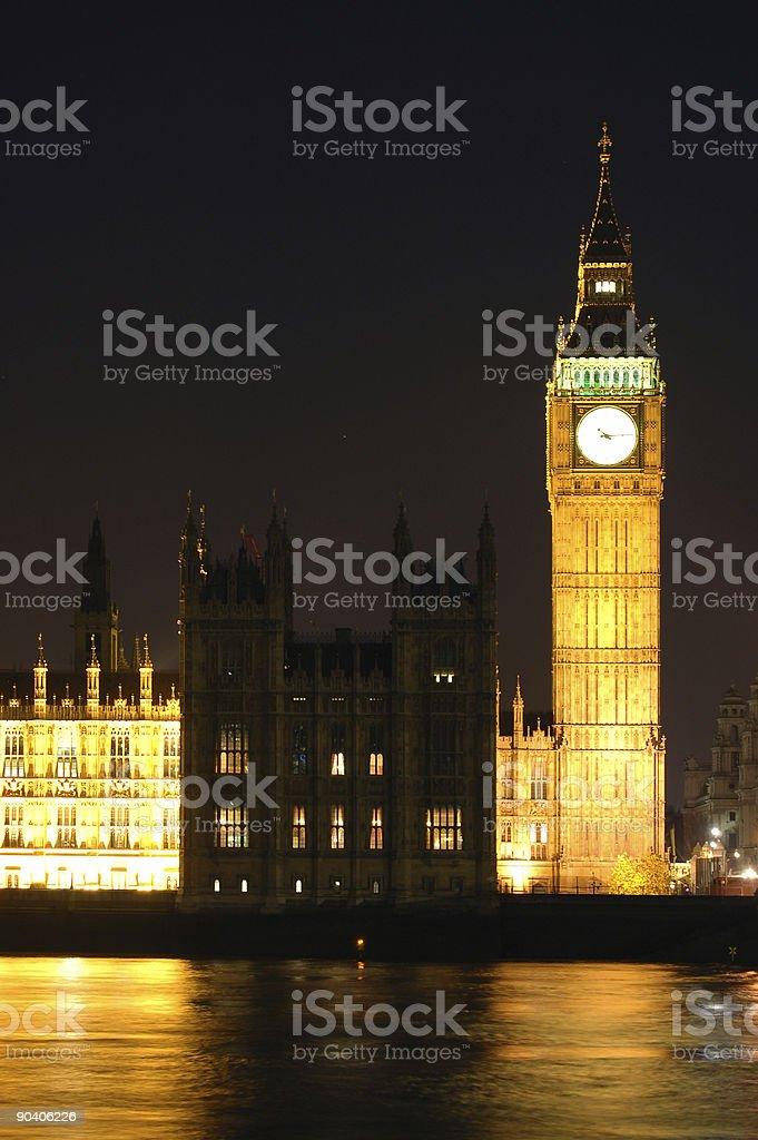 Big Ben at night (London, UK) royalty-free stock photo