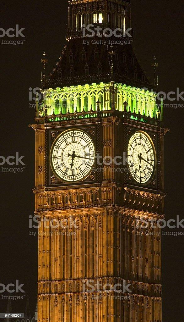Big Ben at night stock photo