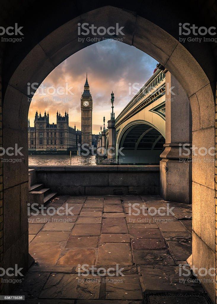 Big Ben at twilight stock photo