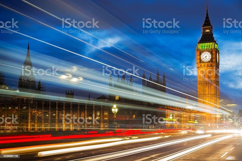 Big Ben at Westminster Bridge, London, UK stock photo
