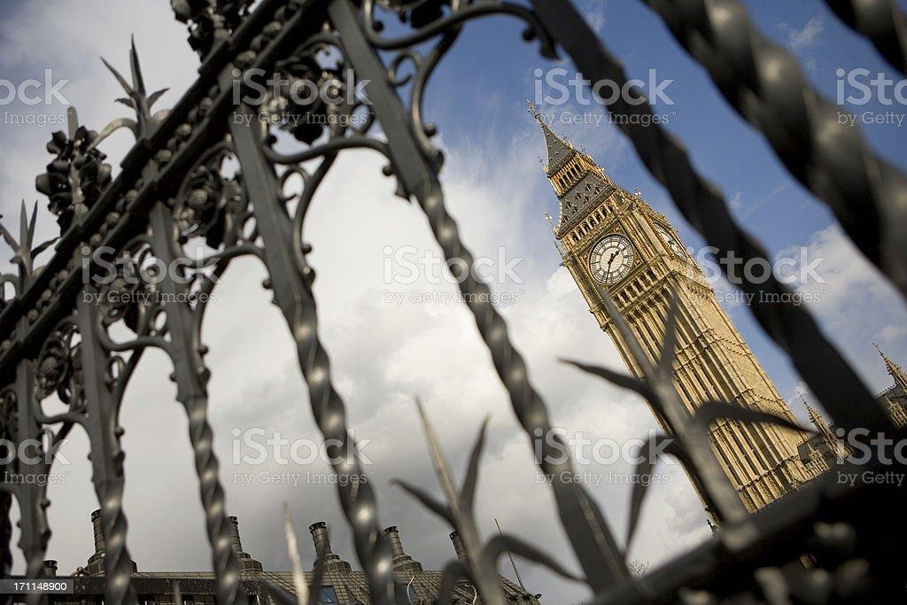 Big Ben behind bars royalty-free stock photo