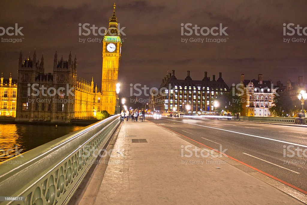 Big Ben by night, London royalty-free stock photo