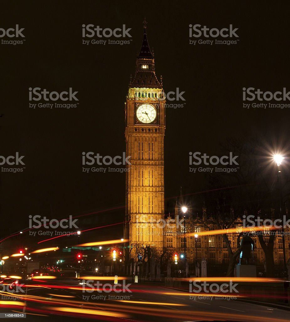 Big Ben by night stock photo