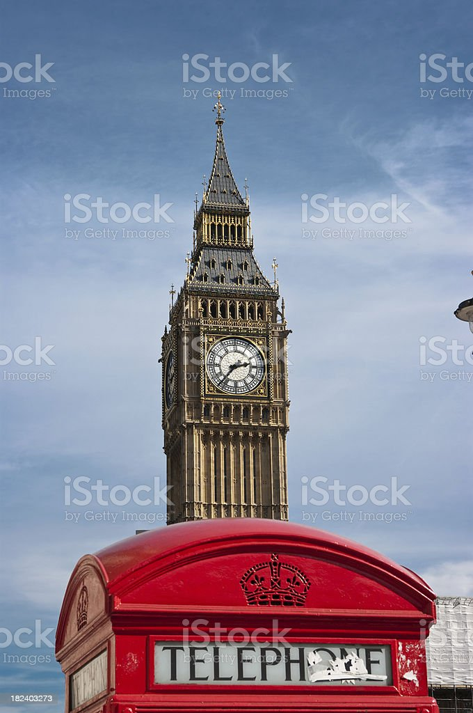 Big Ben calling stock photo