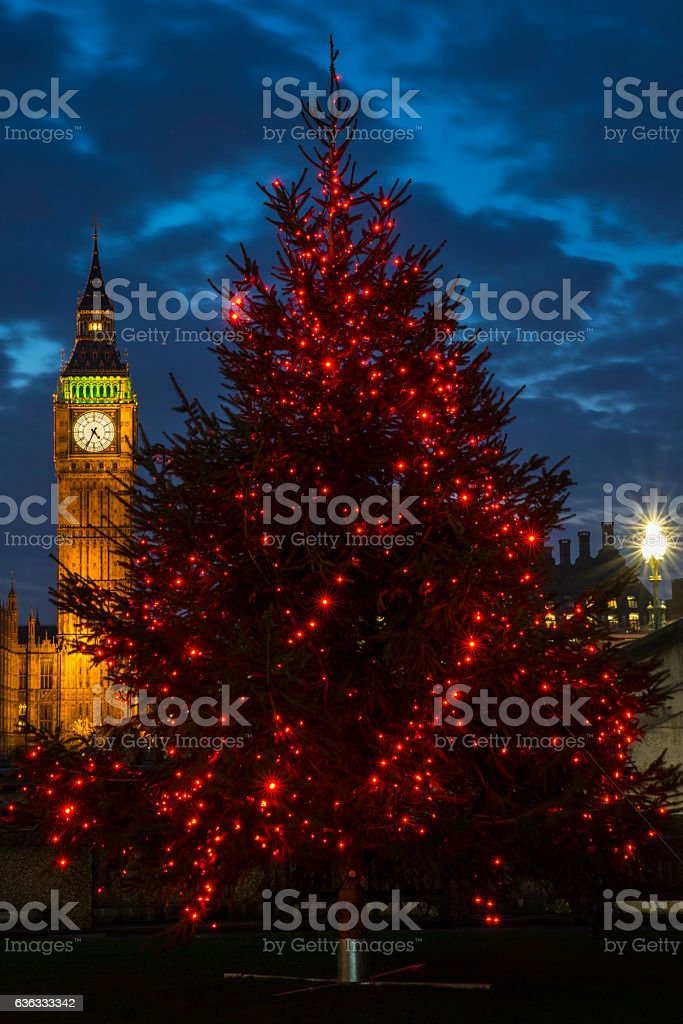 Big Ben Christmas stock photo