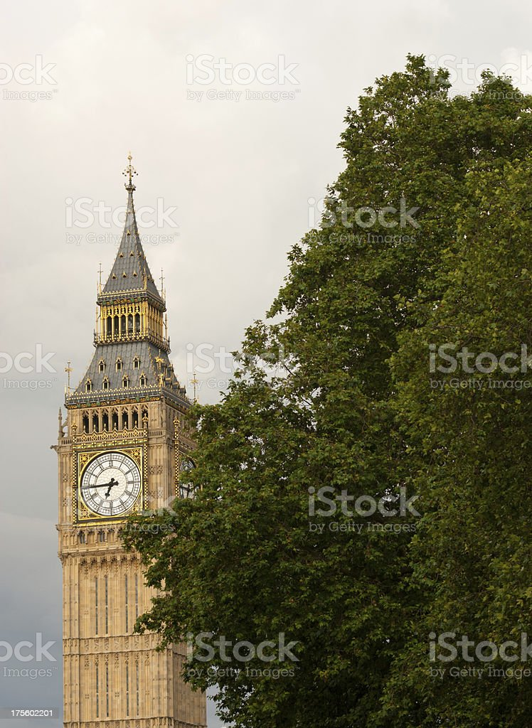 Big Ben Clock face and tower. royalty-free stock photo
