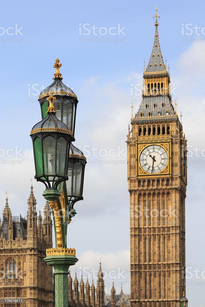 Big Ben Clock Tower at Westminister, London, UK royalty-free stock photo
