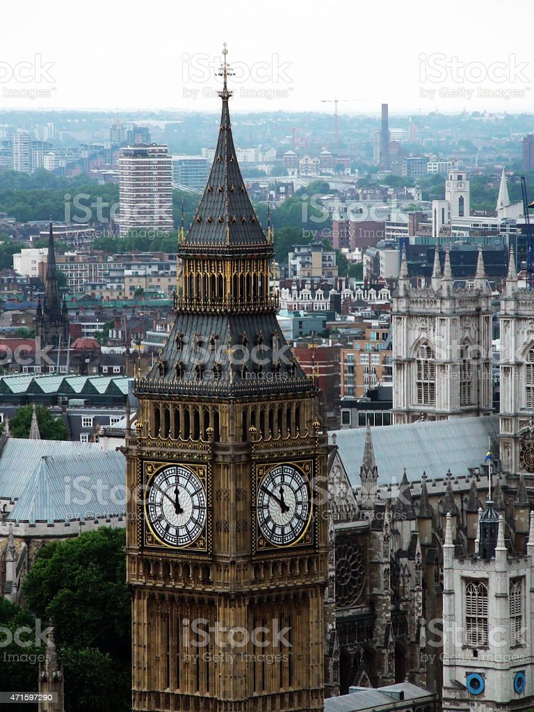 Big Ben Clock Tower in London stock photo