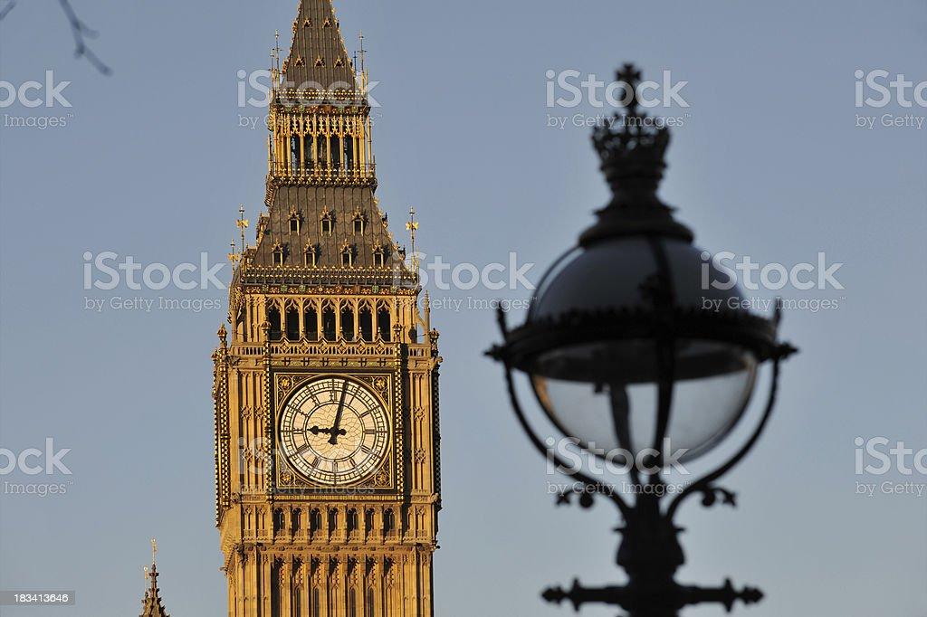 Big Ben clock tower. London. stock photo