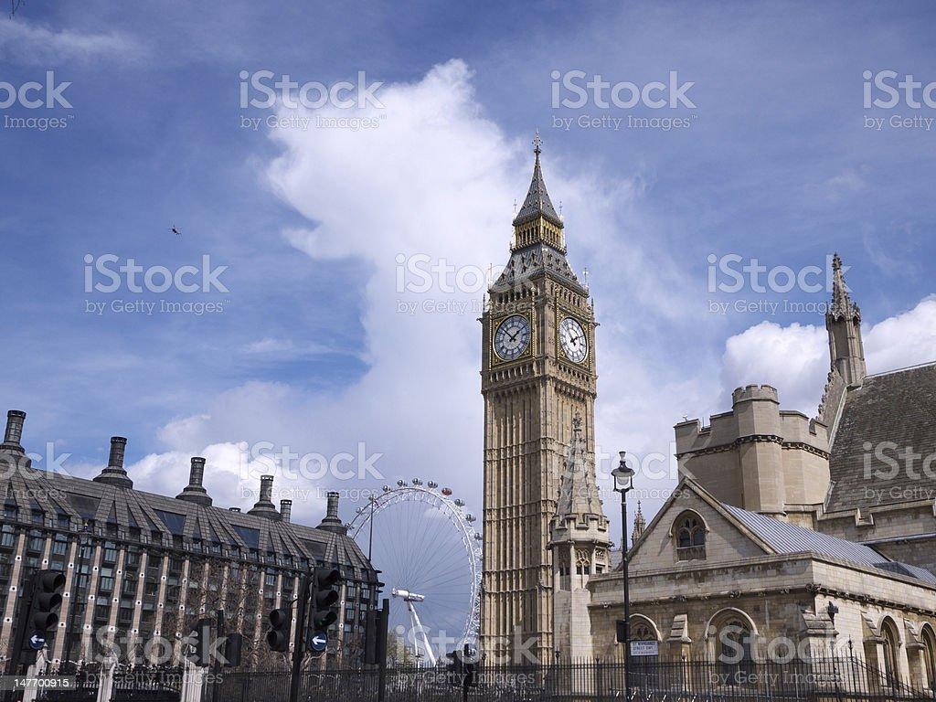 Big Ben clock tower royalty-free stock photo