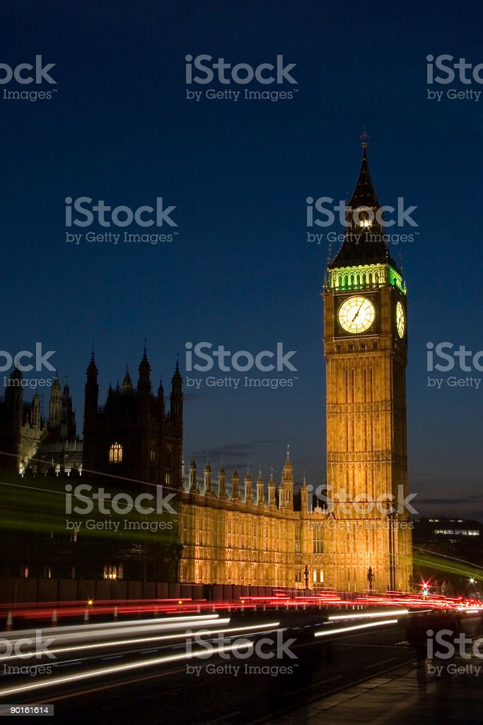 Big Ben from Westminster Bridge royalty-free stock photo