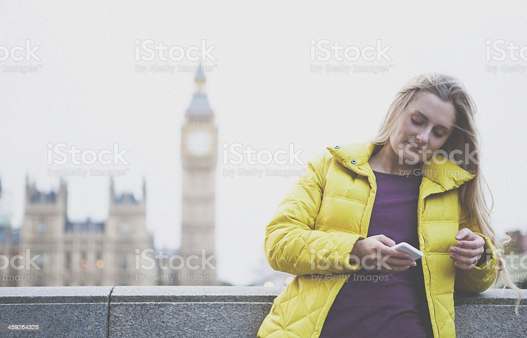 Big Ben Girl royalty-free stock photo