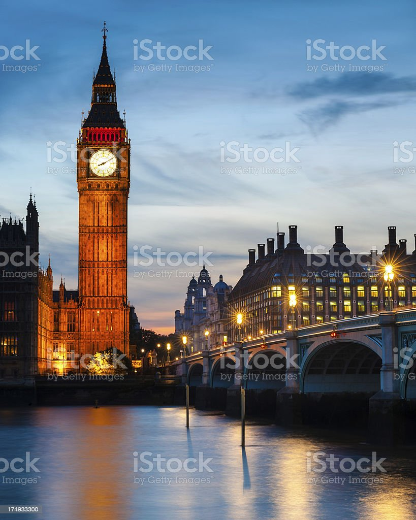 Big Ben, Houses of Parliament, London royalty-free stock photo