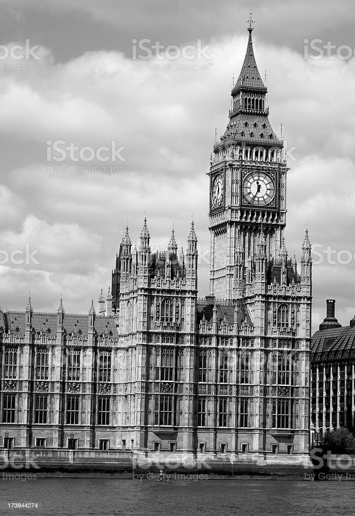 Big Ben Houses of Parliament royalty-free stock photo